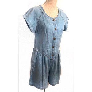 Vintage denim shorts jumpsuit romper